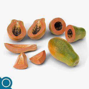 mamao papaya 3d model