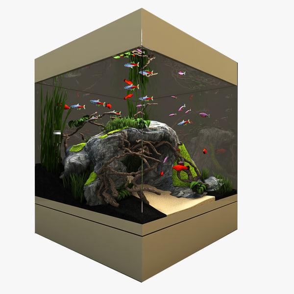 3d model aquarium natural