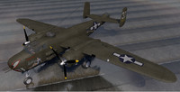 3ds plane north american b-25h