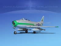 3d 3ds north american f-86 sabre