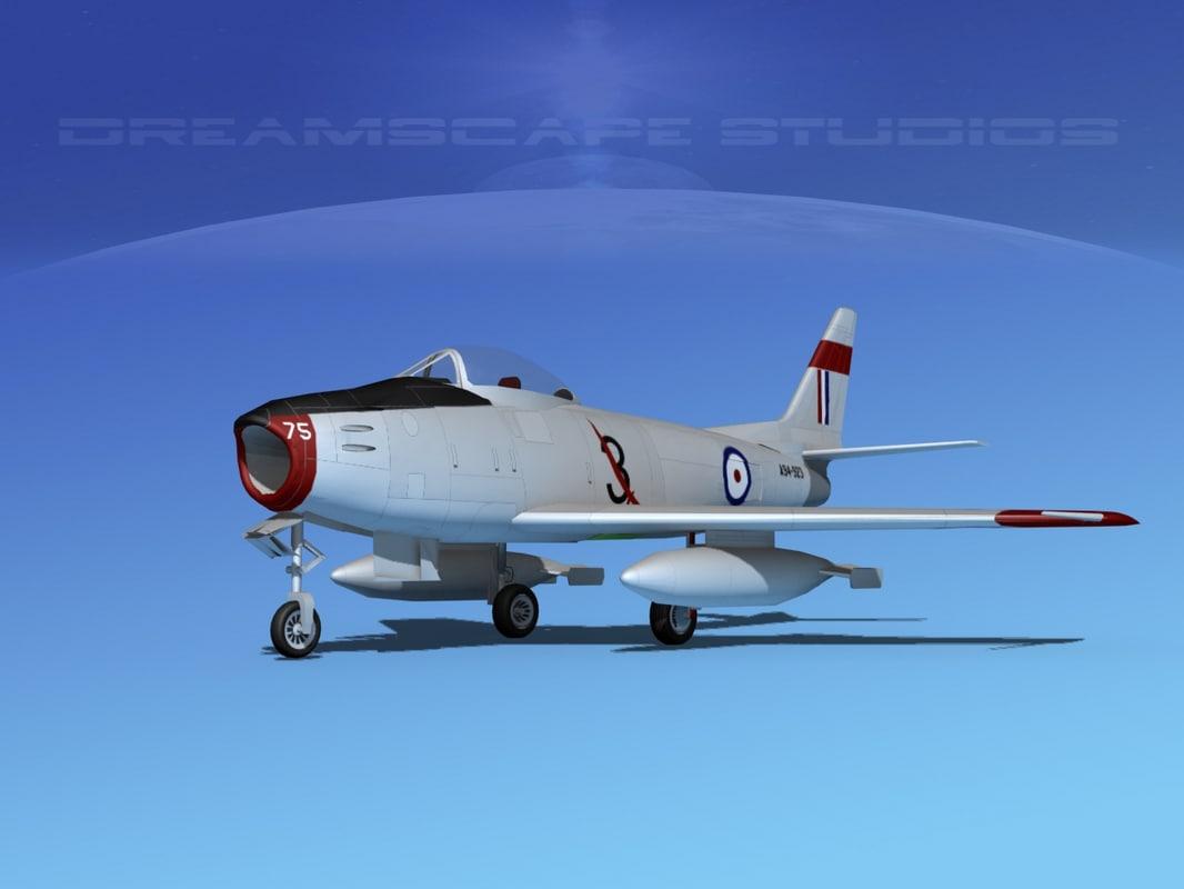 3d north american f-86 sabre model