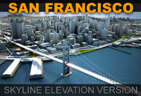 3d san francisco skyline elevation