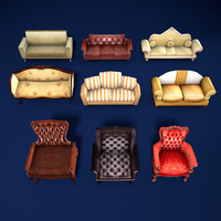 sofas armchairs 3ds