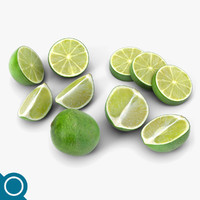 3d lime fruit
