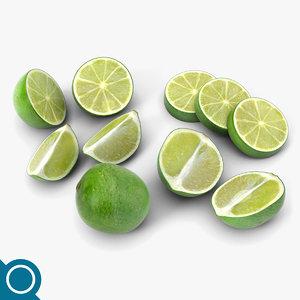 3d lime fruit