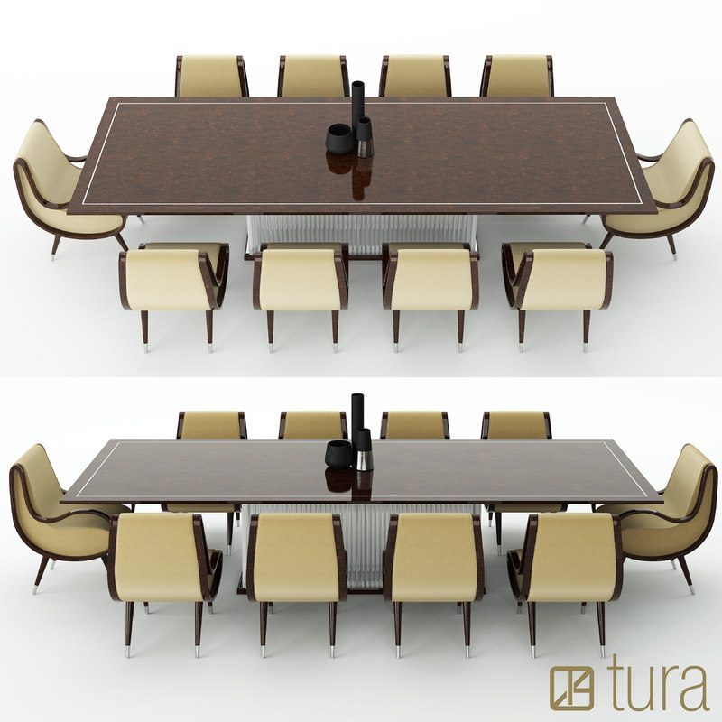 3d tura eclipse dining table