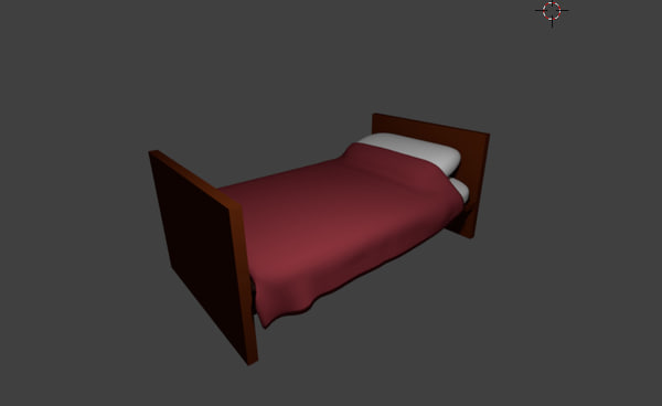 3d 3ds simple bed