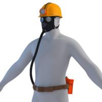 3d model of miner tool s