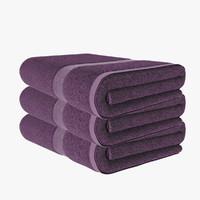3d towel lilac