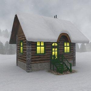 lodge pines snow 3d 3ds