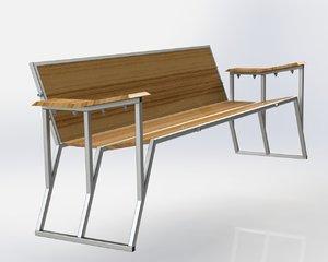 3d model of solidworks futuristic sofa