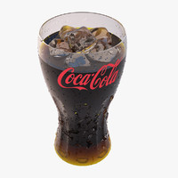 coca-cola glass 3d model