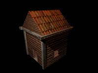 small house 3d obj
