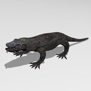 komodo dragon 3d obj