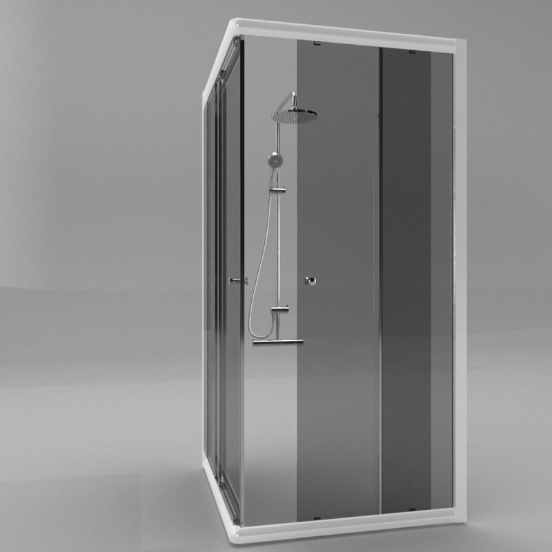 shower mixer cabin 3d 3ds