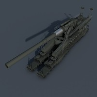 3d dora railway gun model