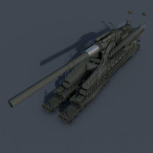3d dora railway gun model