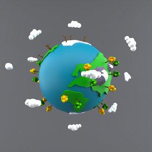 cartoon earth 3ds