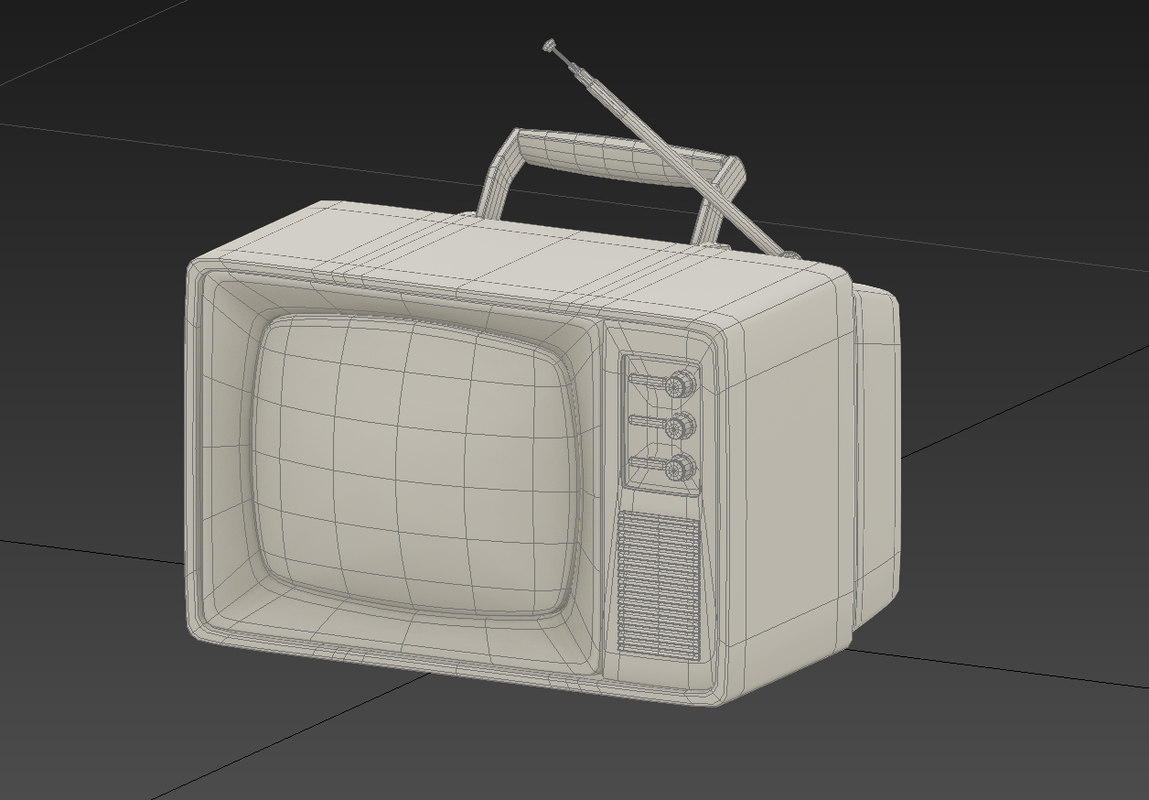 retro old tv 3d model