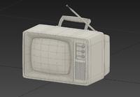 retro old tv 3d model