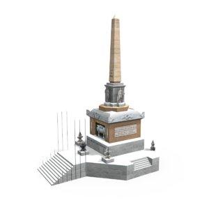 3d model monumento los caidos por