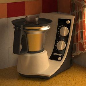3d model kitchen robot