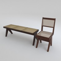 library chair stool 3d max