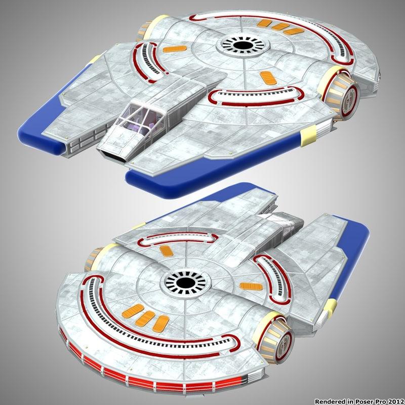 3d poser spaceship