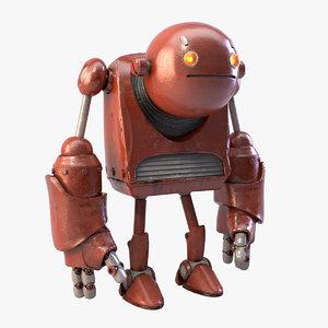 robot realistic metal 3d fbx