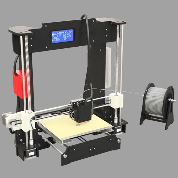 3d model rigged anet a8 3dprinter