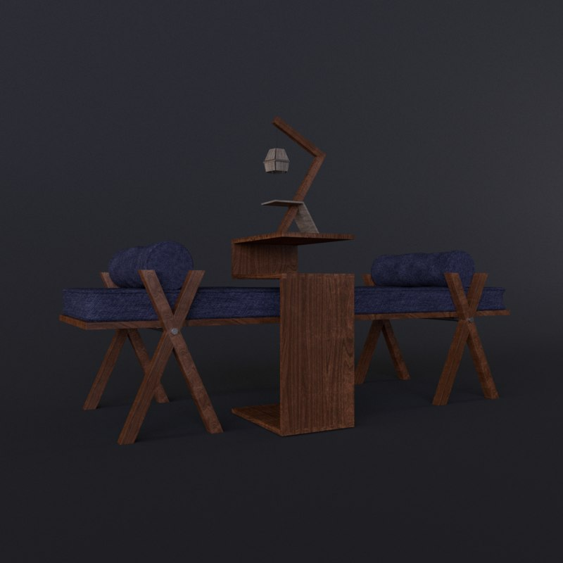 night nightstand 3d model