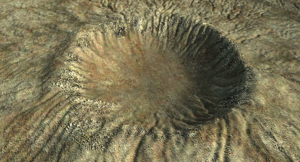 crater terrain landscape 3d max