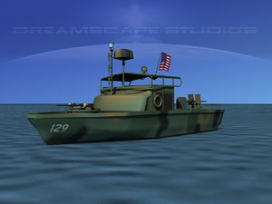 patrol boat pbr 3d model