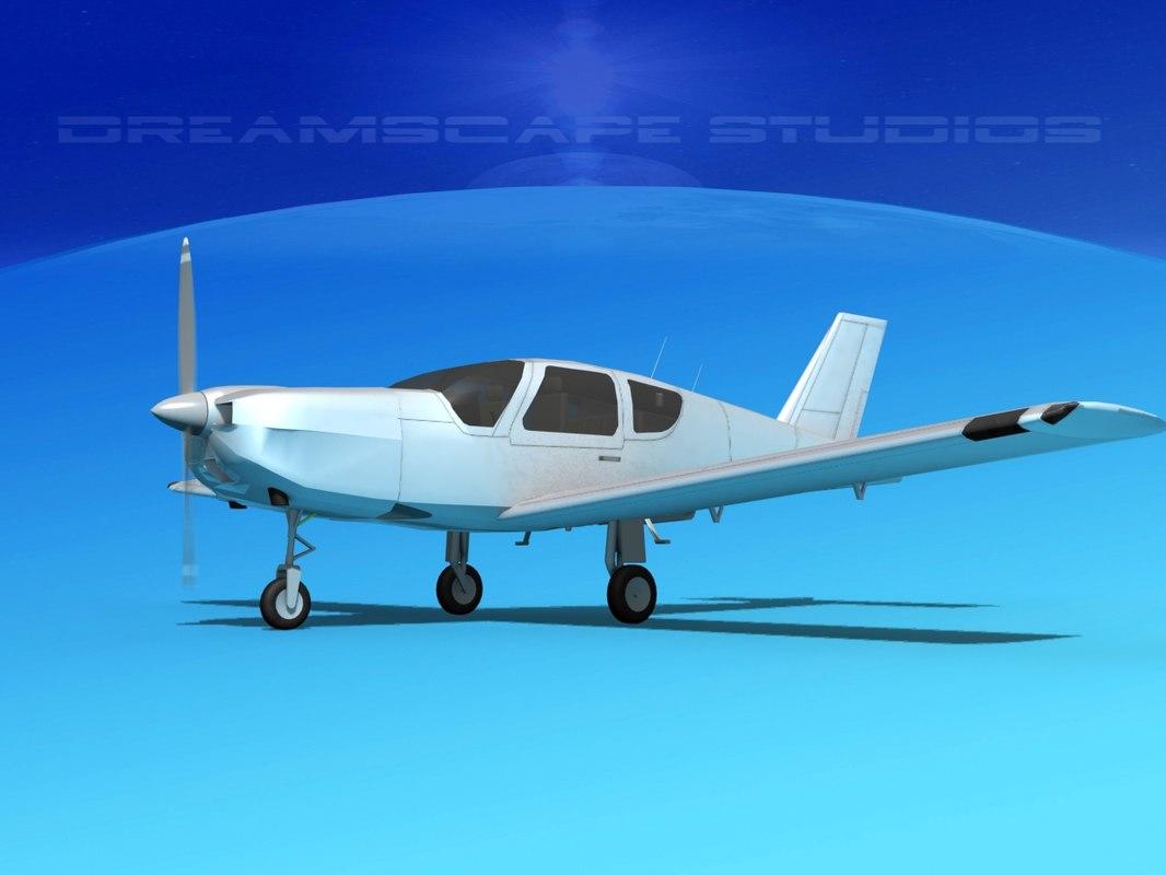 propeller tb-20 trinidad 3d dwg