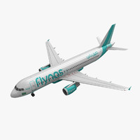 airbus a320 flynas 3d model