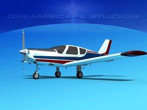 propeller tb-20 trinidad 3d model