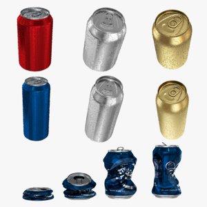 3d model realistic cans