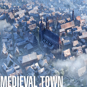3d model city town medieval