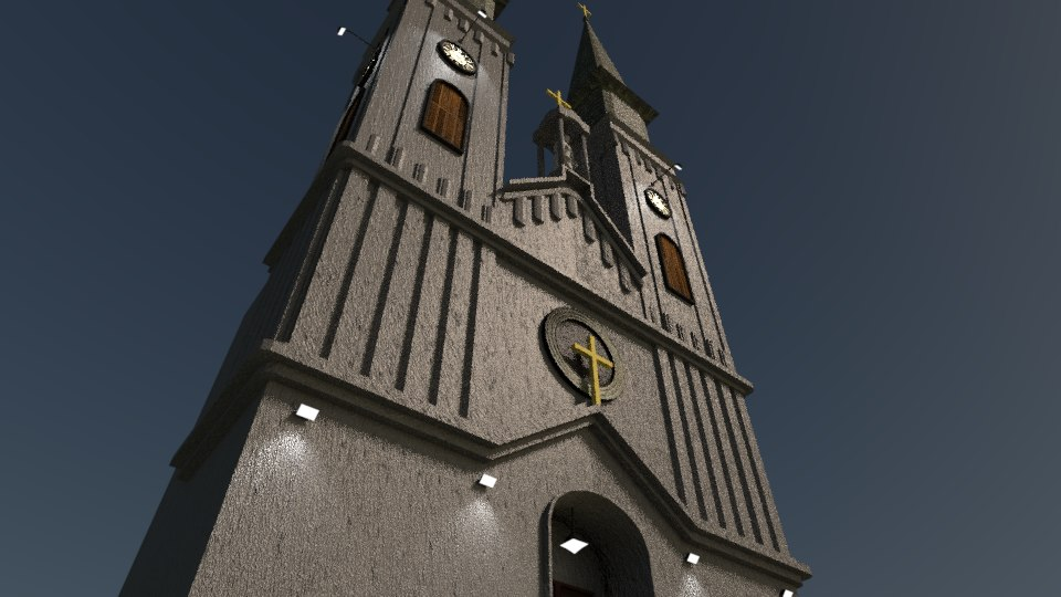 3d model catholic church