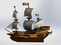 3d santa ship model