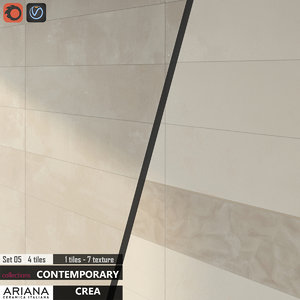 3d tile ariana crea set model