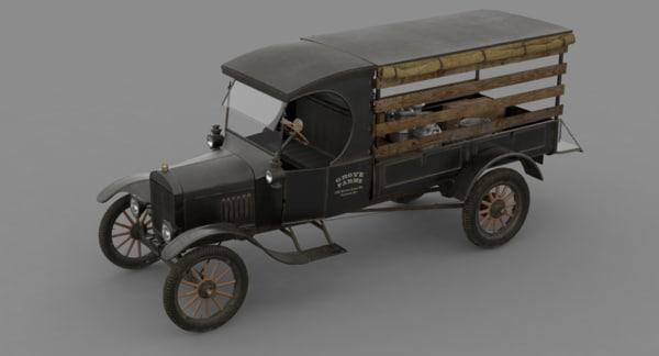 1924 pickup truck 3d model