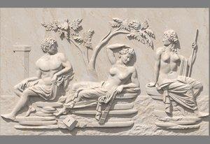 3dm bas-relief scene portland vase