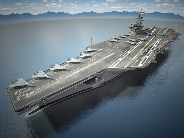3d uss ronald reagan model