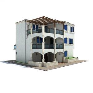 family house 3d 3ds