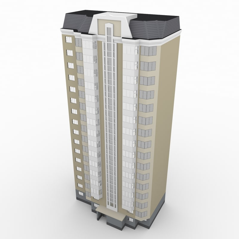 3d russian residential building model