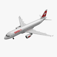Airbus A320 Swiss Airlines Animated