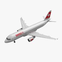 에어 버스 A320 스위스 항공 애니메이션
