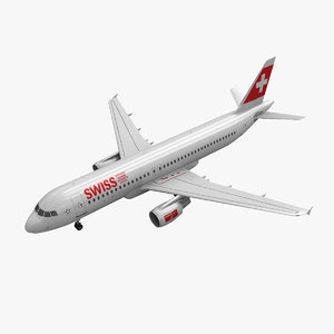 airbus a320 swiss airlines obj
