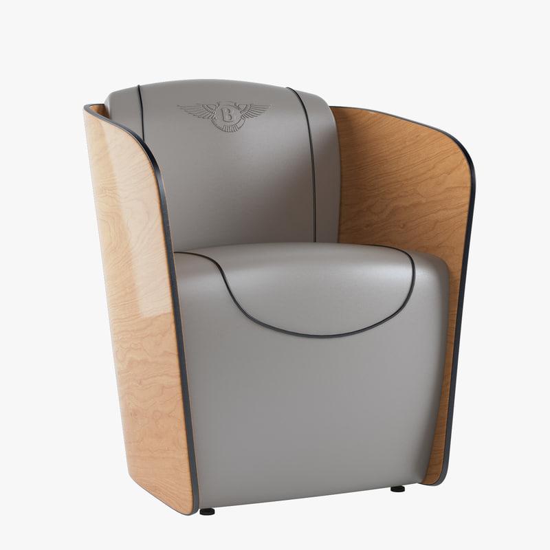 3d model bentley rugby armchair